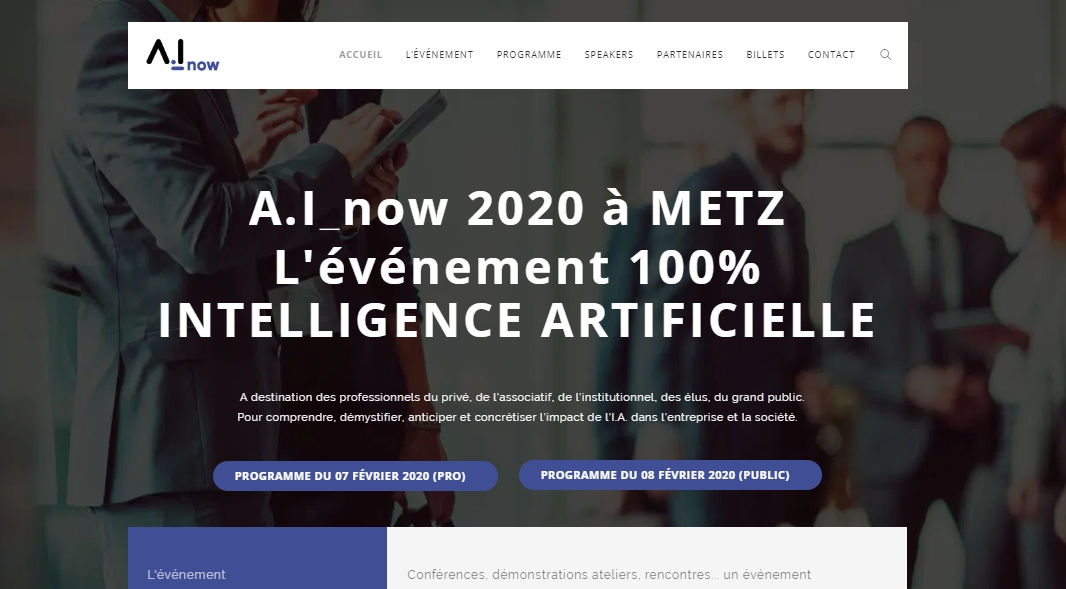 IA-Now Conférence intelligence artificielle